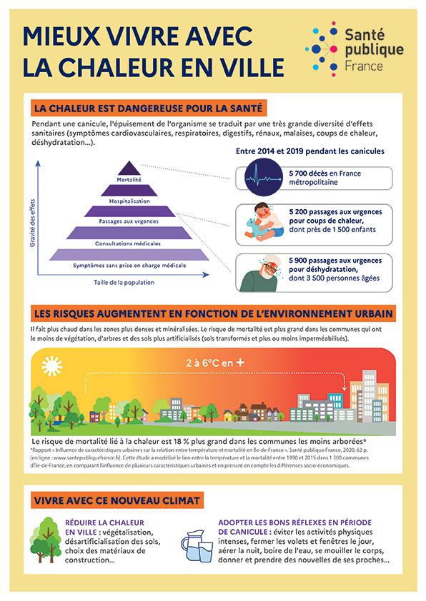 Infographie - Mieux vivre avec la chaleur en ville