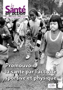 Couverture du n°454 de la Santé en action : promouvoir la santé par l'activité physique et sportive