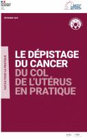 visuel de la couverture du guide le dépistage du cancer du col de l'utérus en pratique