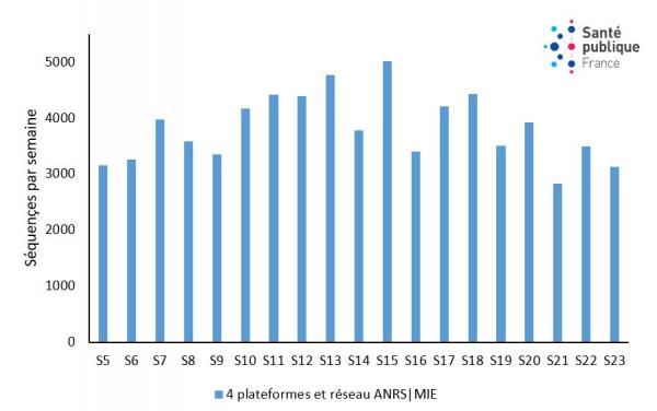 Figure activité de séquençage, semaine 23-2021