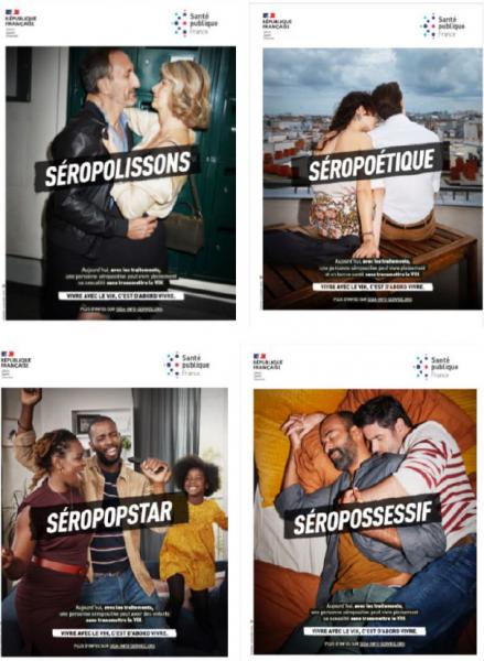 visuel campagne vih 2020 « Vivre avec le VIH, c'est d'abord vivre »